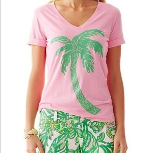 Lilly Pulitzer Pink Palm Tree Top